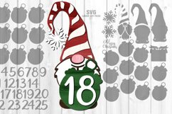Gnome Christmas Countdown Sign SVG Glowforge Laser Files Product Image 5