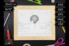 Layered grandpa shadowbox template preview