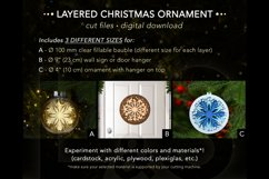 Layered paper cut Christmas ornament template