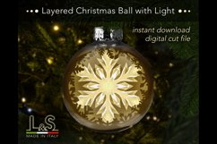 Layered snowflake Christmas bauble