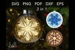DIY Layered snowflake Christmas ornaments