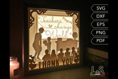 Layered Teacher Light Box preview