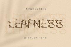 Web Font Leafness Font Product Image 1
