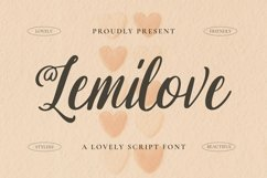 Web Font Lemilove Font Product Image 1