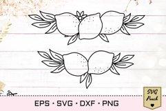Lemon border SVG Product Image 1