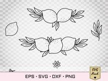 Lemon border SVG Product Image 2
