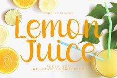 Lemon Juice - Fresh Handwritten Font Product Image 1