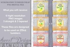 20 oz lemonade tumbler Sublimation designs Product Image 5