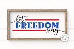 Let Freedom Ring SVG | 4th of July Sign | Independence Day S Product Image 1