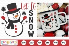 Let it Snow Snowman Winter and Christmas SVG Product Image 2