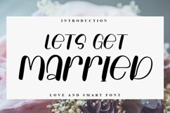 Lets Get Married - Handwritten Font Product Image 1