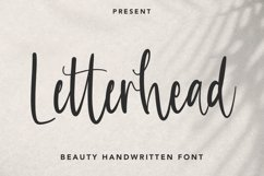 Letterhead - Handwritten Font Product Image 1