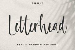 Web Font Letterhead - Handwritten Font Product Image 1
