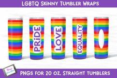 LGBTQ Pride Tumbler Wrap Bundle - 5 Skinny tumbler designs Product Image 1