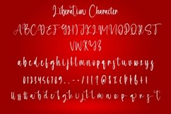 Web Font Liberation - Christmas Calligraphy Font Product Image 6