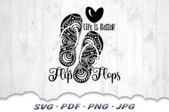 Life Is Better In Flip Flops Mandala SVG Cut Files Product Image 3