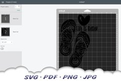 Life Is Better In Flip Flops Mandala SVG Cut Files Product Image 2