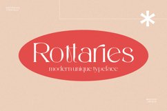 Rottaries - Modern Unique Typeface Product Image 1
