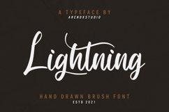 Lightning - Hand Draw Brush Font Product Image 1