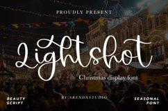 Lightshot - Christmas Display Font Product Image 1