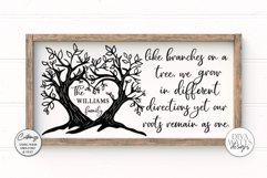 Like Branches on a Tree Family - Customizable SVG Product Image 1