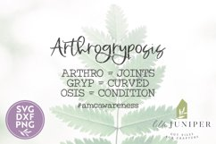 Disability Awareness, Arthrogryposis SVG Product Image 2