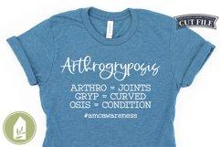 Disability Awareness, Arthrogryposis SVG Product Image 1