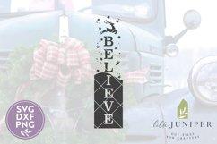 Vertical Christmas Sign, Believe SVG, Reindeer SVG Product Image 2