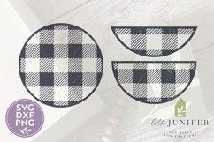 Buffalo Plaid SVG, Round Sign SVG, Winter, Christmas SVG Product Image 2