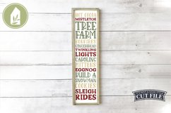 Vertical Christmas Sign Bundle of 8 Designs Product Image 3