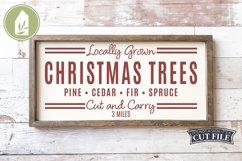 Christmas Trees, Christmas SVG, Grain Sack, Cut and Carry Product Image 1