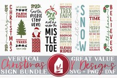 Vertical Christmas Sign Bundle of 8 Designs Product Image 1