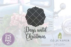 Days Until Christmas, Chalkboard SVG, Christmas Countdown Product Image 2