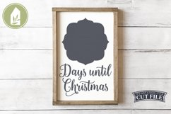Days Until Christmas, Chalkboard SVG, Christmas Countdown Product Image 1