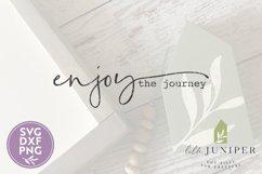 Enjoy the Journey SVG, Boho SVG, Motivational Wood Sign SVG Product Image 2