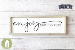 Enjoy the Journey SVG, Boho SVG, Motivational Wood Sign SVG Product Image 1