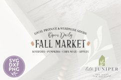 Fall Market Sign, Farmhouse SVG, Fall SVG Product Image 2