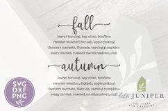 Autumn List Sign, Farmhouse SVG, Fall SVG Product Image 2