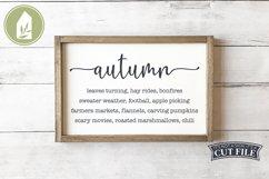 Autumn List Sign, Farmhouse SVG, Fall SVG Product Image 1