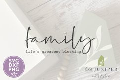 Family Life's Greatest Blessing SVG, Wood Sign SVG Product Image 2
