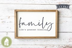 Family Life's Greatest Blessing SVG, Wood Sign SVG Product Image 1