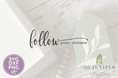 Follow Your Dreams SVG, Boho SVG, Wood Sign SVG Product Image 2