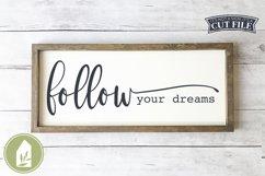 Follow Your Dreams SVG, Boho SVG, Wood Sign SVG Product Image 1