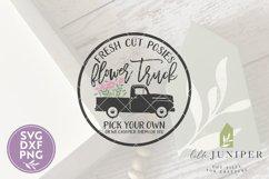 Fresh Flower Truck SVG, Round Sign SVG, Summer SVG Product Image 2