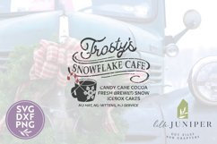 Frosty's Snowflake Cafe, Christmas Sign, Christmas SVG Product Image 2