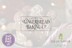 Gingerbread Baking Co, Christmas Sign, Christmas SVG Product Image 2
