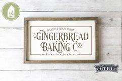 Gingerbread Baking Co, Christmas Sign, Christmas SVG Product Image 1