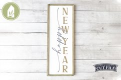 Happy New Year, New Year Porch Sign, Holiday SVG Product Image 1