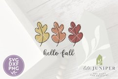Hello Fall Leaves, Fall Sign SVG, Autumn Leaf SVG Product Image 2