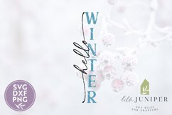 Hello Winter, Vertical Winter Sign, Christmas SVG Product Image 2